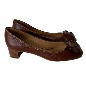 Chloe Buckle Leather Pumps 38